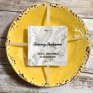 NWT Tommy Bahama Yellow Bowls set of 4
